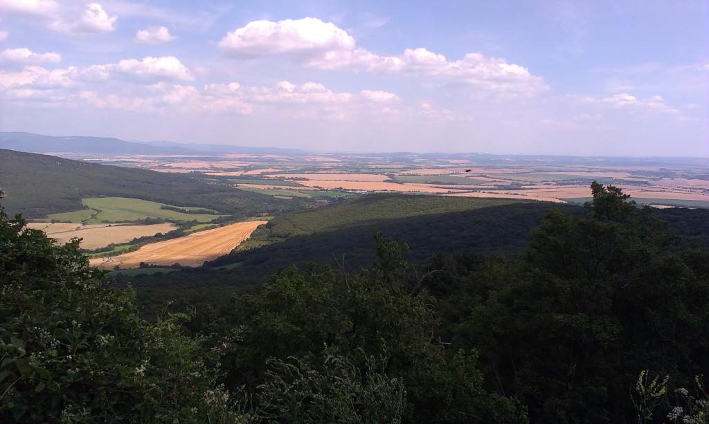 Pohľad z hradu Gýmeš