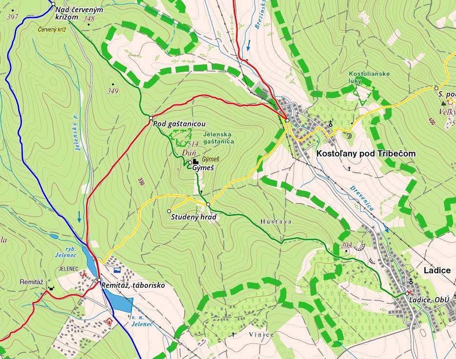 Turisticka mapa Gýmeš