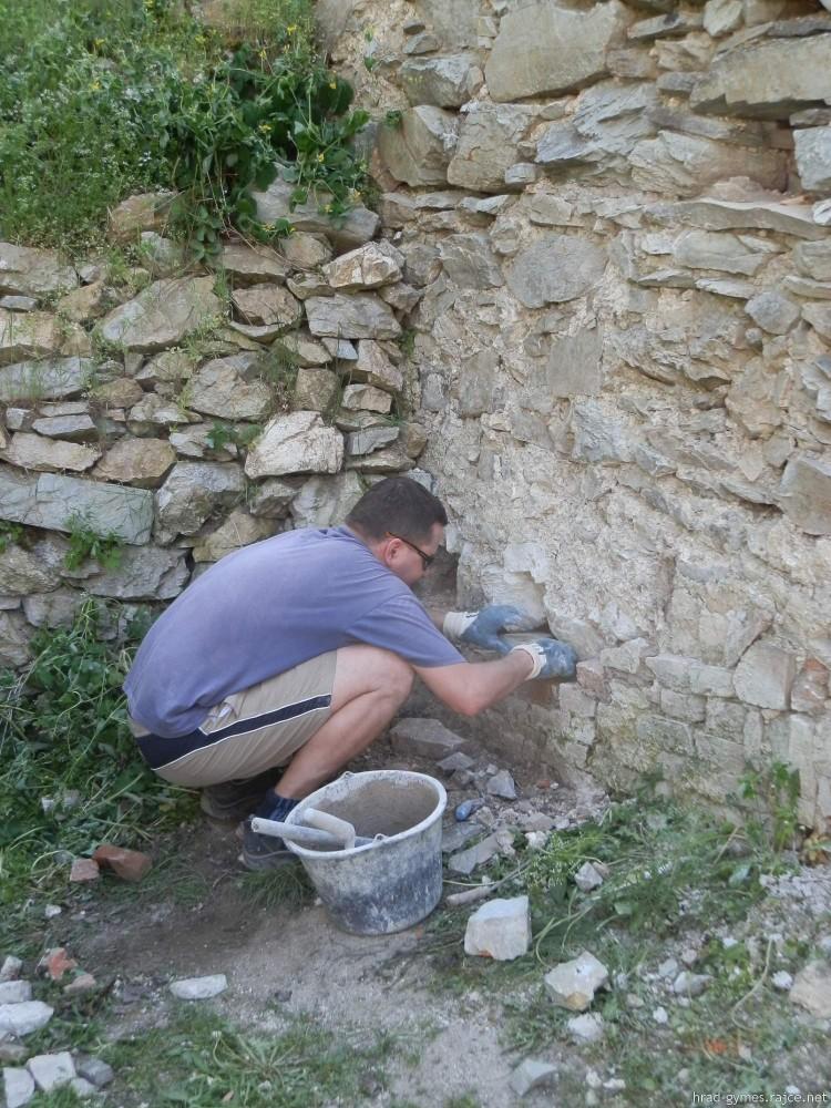 Obnova hradu Gýmeš 2018